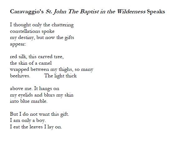 Carvaggio's St. John The Baptist in the Wilderness Speaks