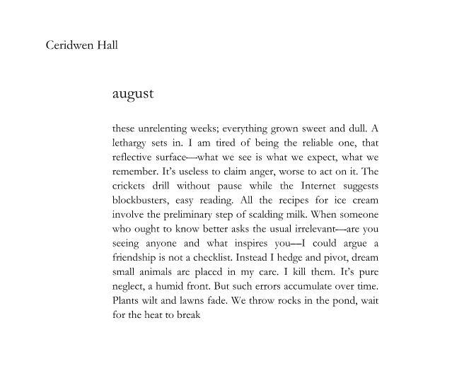 Ceridwen Hall-august